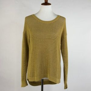Madewell Mustard Large Knit Crew Neck Sweater, L